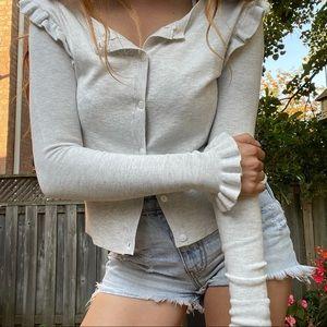 Zara knit sweater cardigan